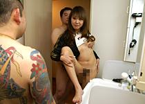 本日あなたの妻が浮気します!旦那が風呂に入っている間に一発触発の中出しFuck!【しろハメ】